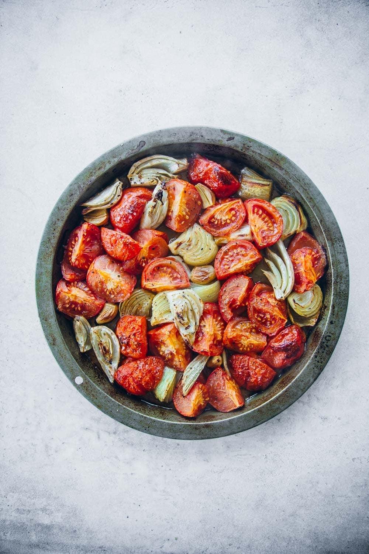 Oven Roasted Tomato Garlic Saffron Soup - Cook Republic