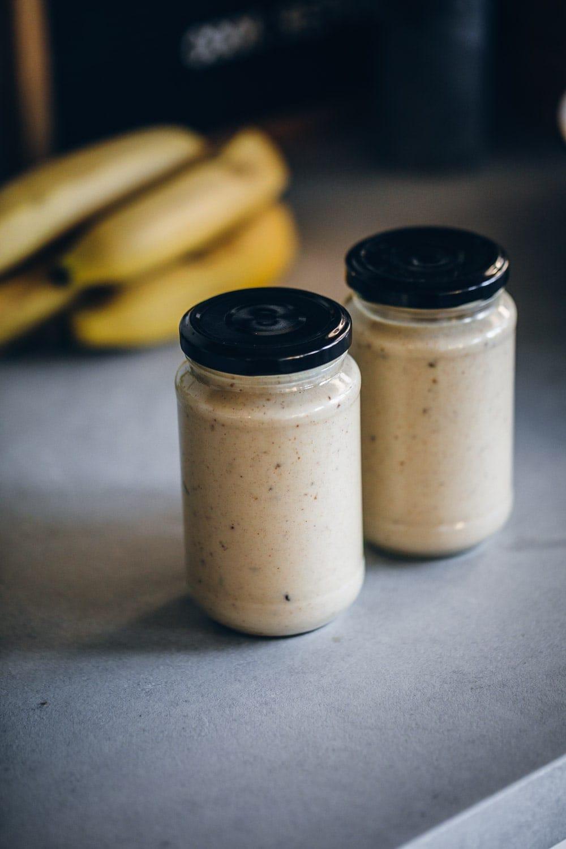 Vegan Salted Caramel Banana Smoothie - Cook Republic