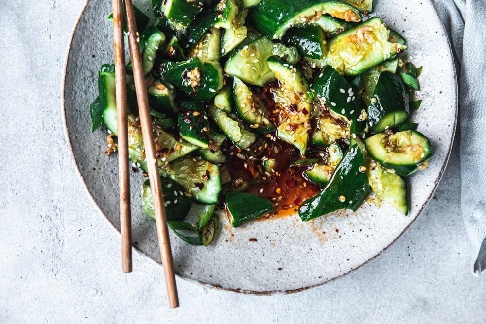 Asian Smacked Cucumber Salad - Cook Republic