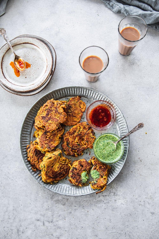 Crispy Onion Pan Pakoras - Cook Republic