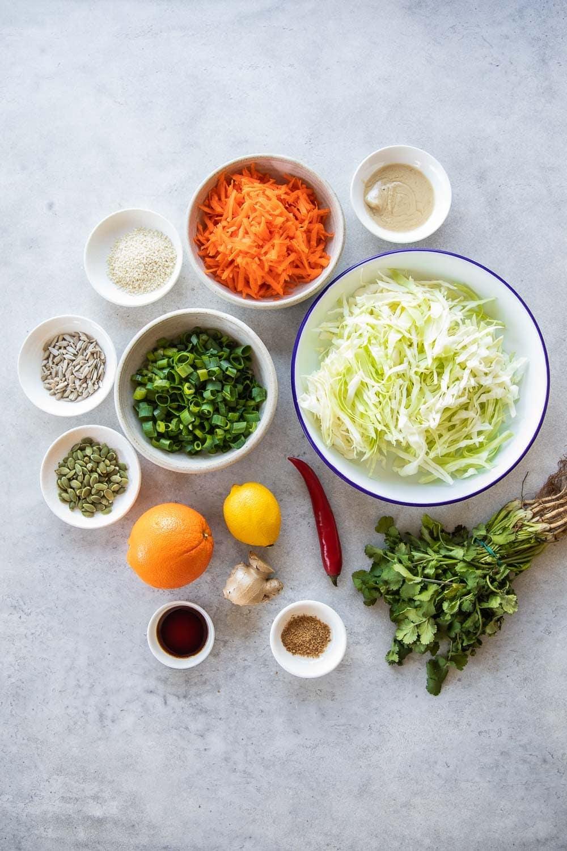 Crunchy Thai Style Cabbage Salad - Cook Republic #vegansalad #veganthai