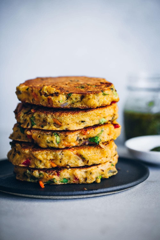 Crispy Semolina Veggie Pancakes - Cook Republic