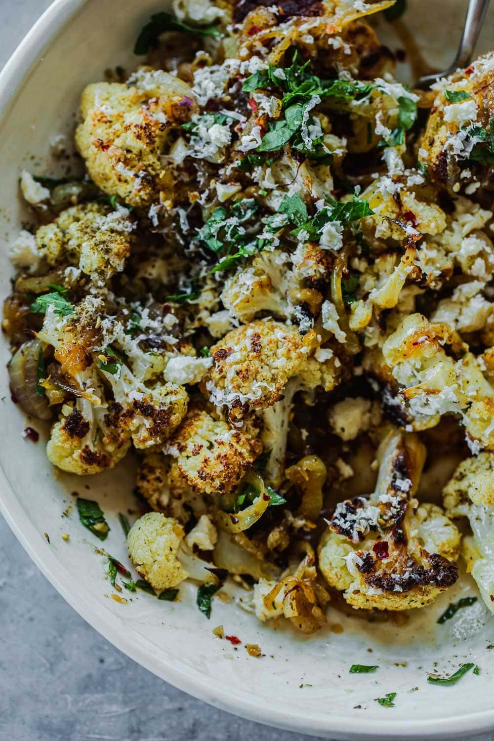 Roasted Cauliflower With Honey And Halloumi - Cook Republic