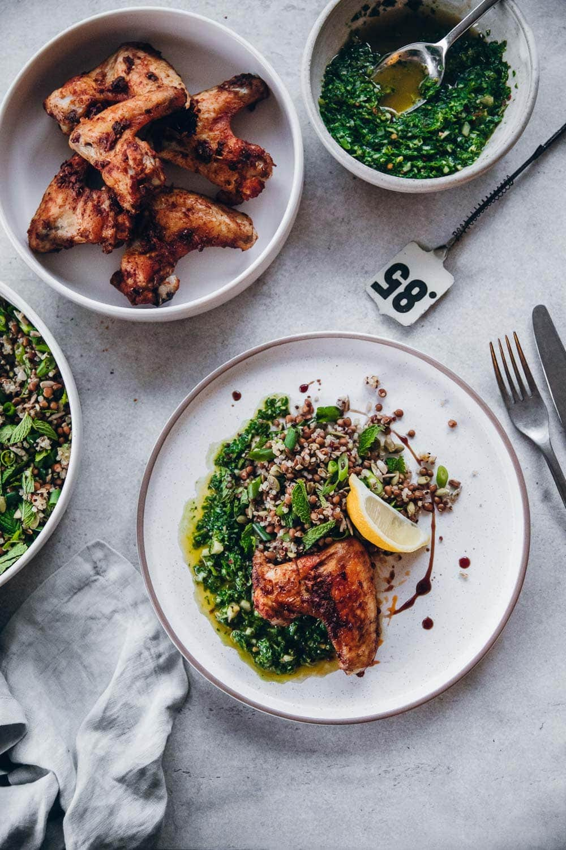 Smoky Chicken Chimichurri Lentil Salad - Cook Republic