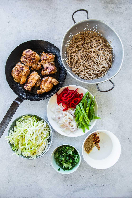 Creamy Thai Chicken Noodle Salad - Cook Republic