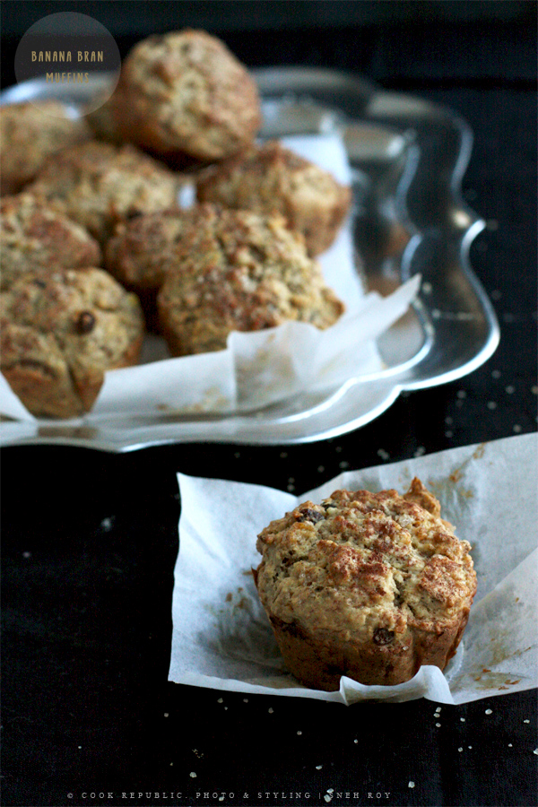 Banana Bran Muffins | Cook Republic