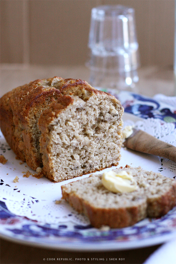 Banana And Coconut Milk Bread Slice