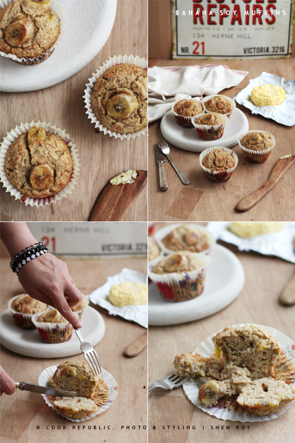 Banana Soy Muffins - Cook Republic