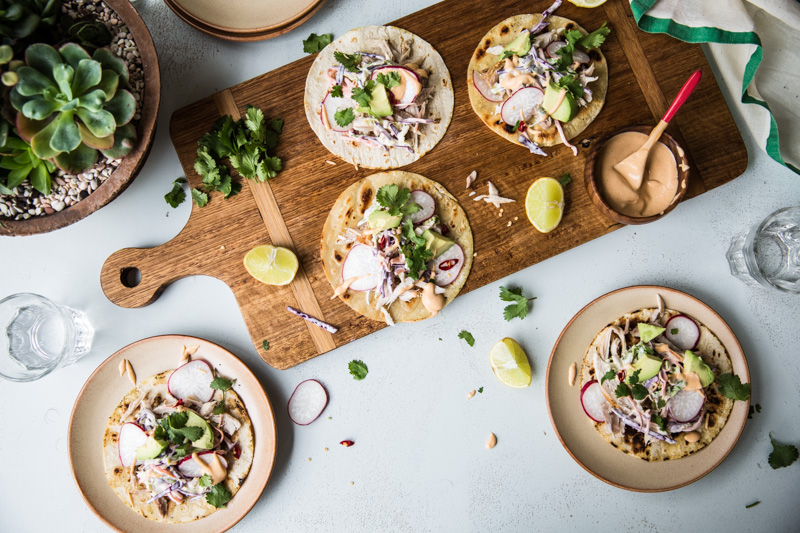 Barbecue Chicken Tostadas With Homemade Yoghurt Coleslaw - Cook Republic