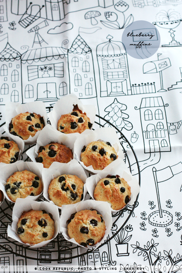 Blueberry Muffins | Cook Republic