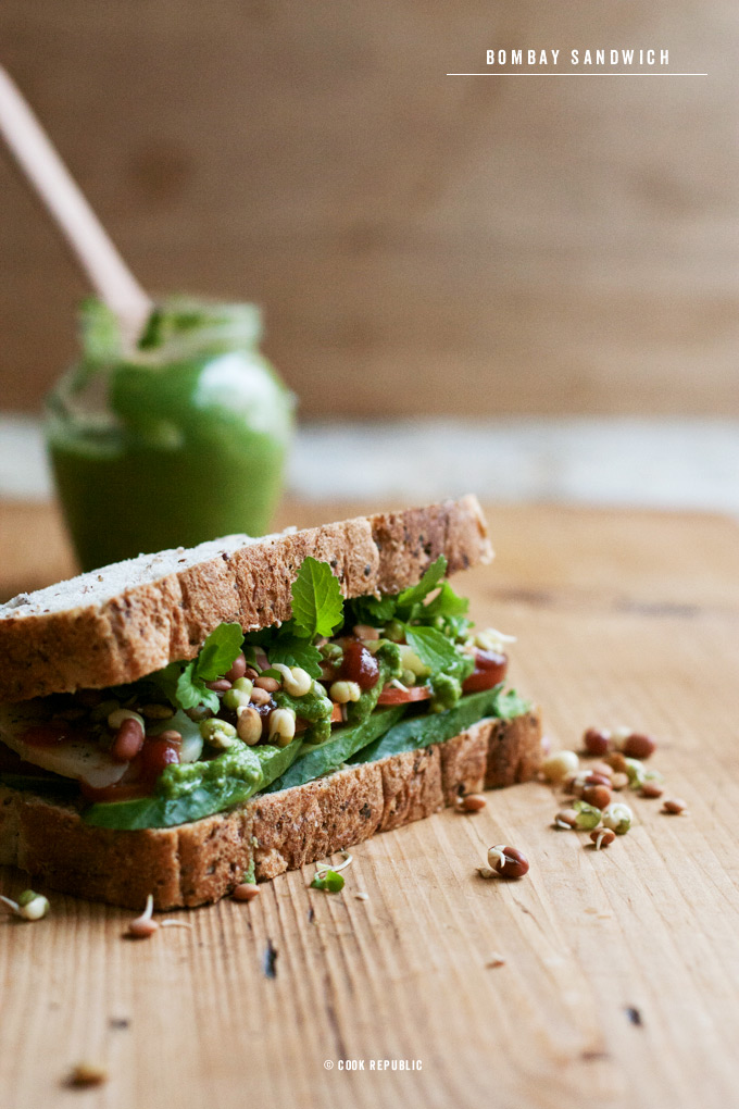 Bombay Sandwich - Veggies,Herbs,Greens,Sprouts.