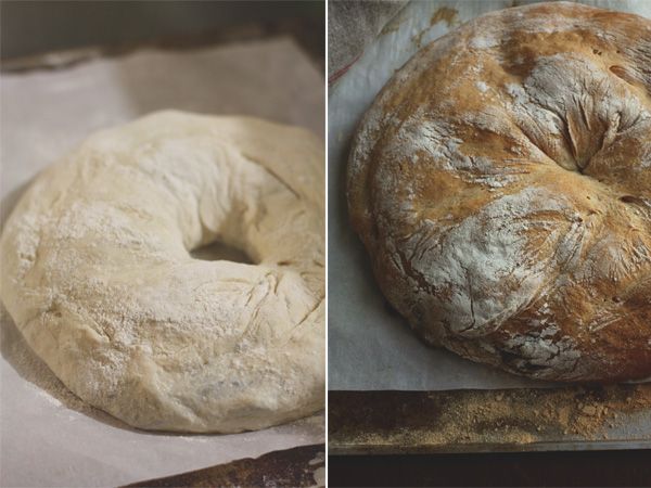 Tortano Bread - Before And After