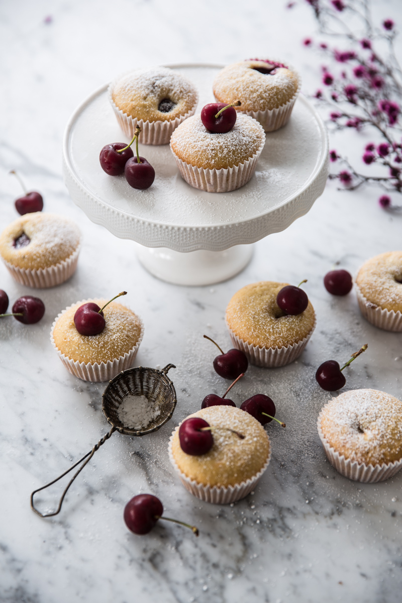 Cherry Muffins - Cook Republic