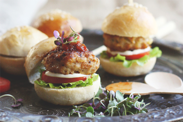 Chicken And Pinenut Sliders
