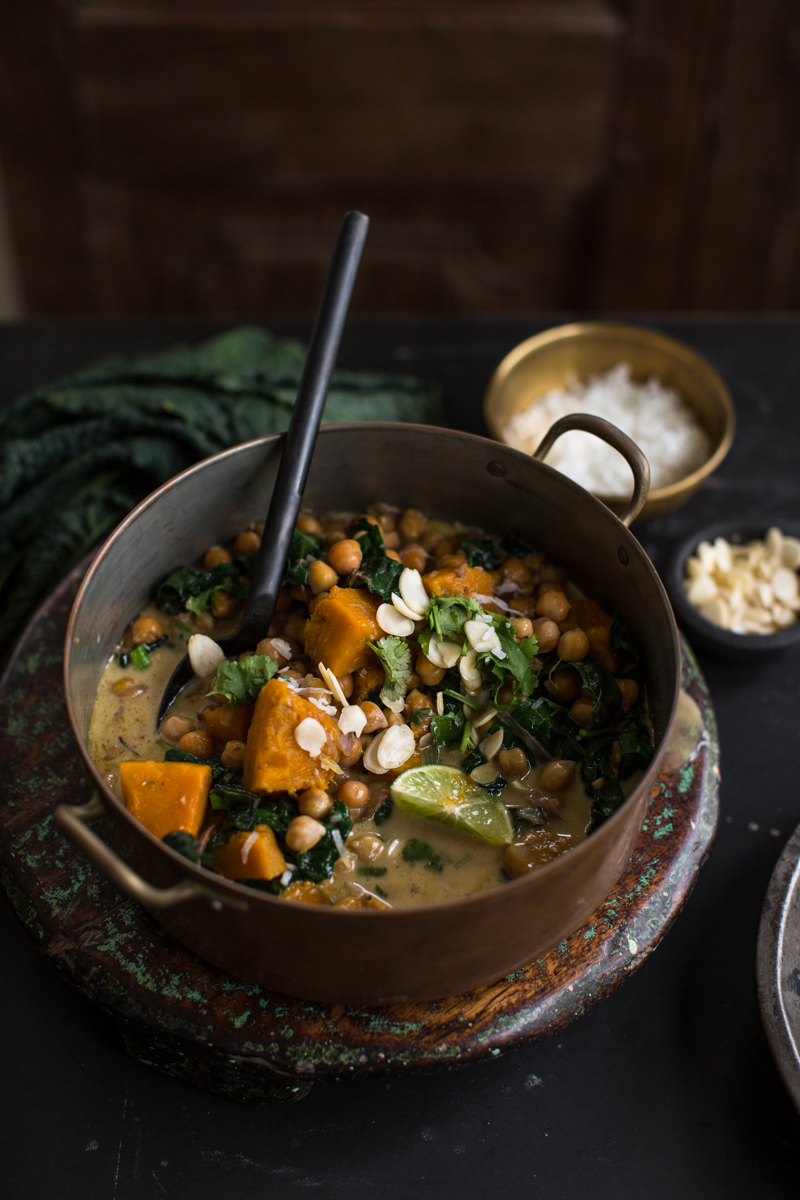 Chickpea And Coconut Korma Curry With Pumpkin - Cook Republic