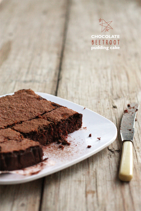 Chocolate Beetroot Pudding Cake
