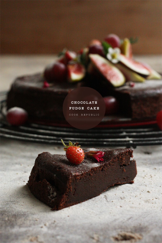 Slice Of Chocolate Fudge Cake - Cook Republic