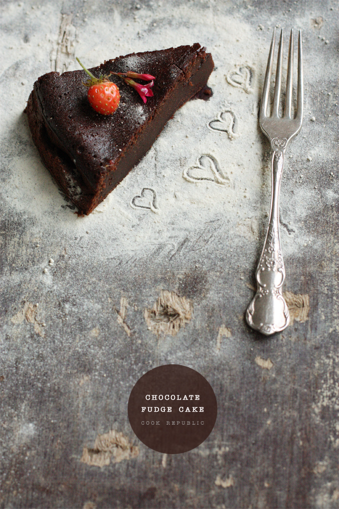 Chocolate Fudge Cake With Sugar Dust - Cook Republic