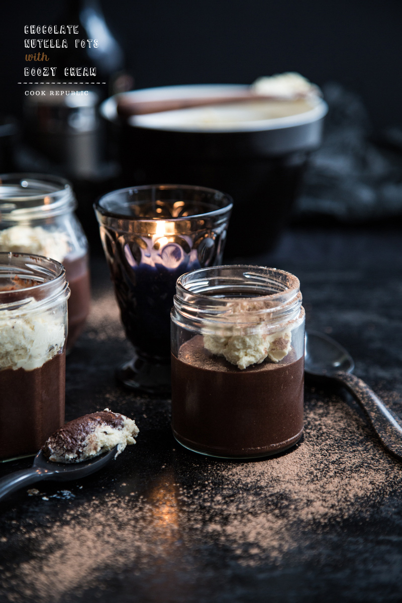 Chocolate Nutella Pots With Irish Cream