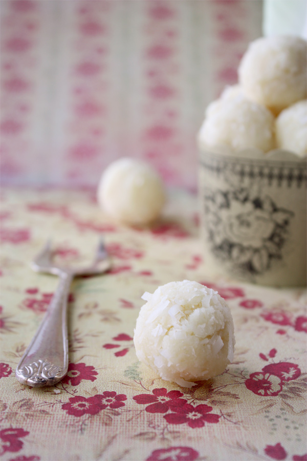 White Chocolate And Coconut Truffles | Cook Republic