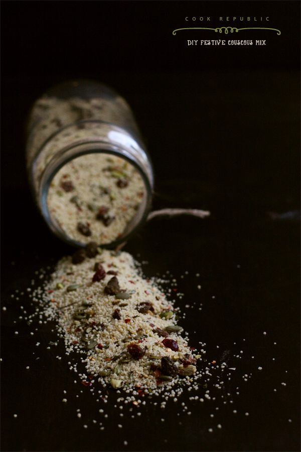 DIY Festive Couscous Mix Jar - Cranberries & Pistachios