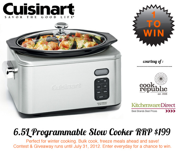 Win A 6.5L Programmable Cuisinart Slow Cooker Worth $199 At Cook Republic