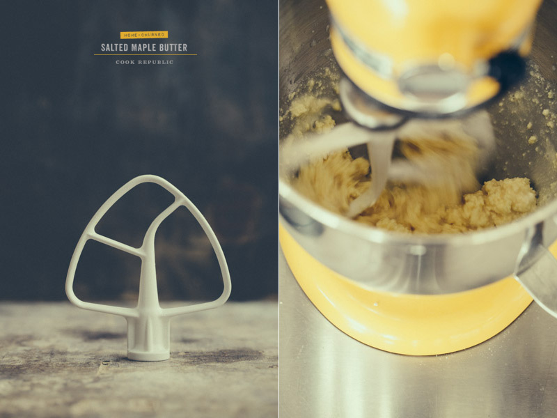 Making butter in the Kitchenaid