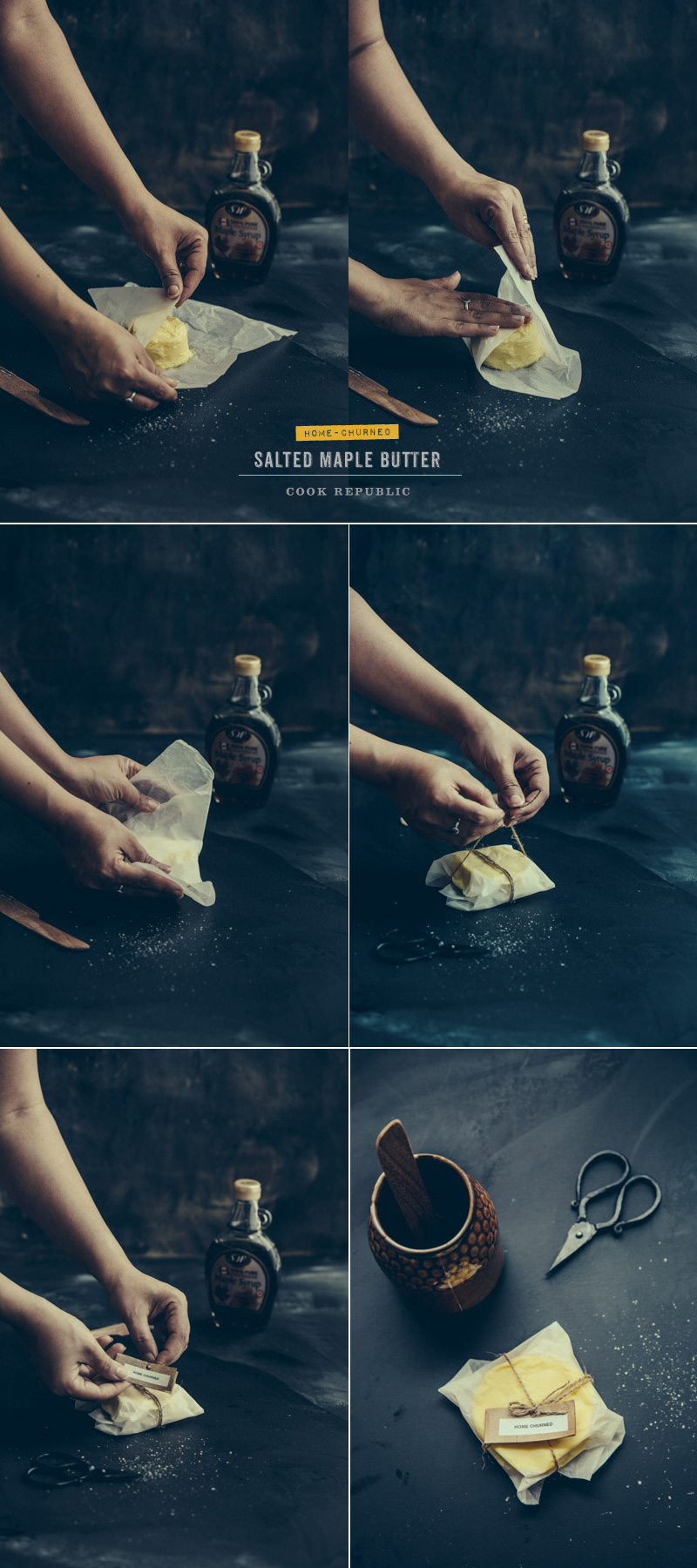 Wrapping Artisanal Home Made 15-Minute Butter - Sneh Roy, photo.