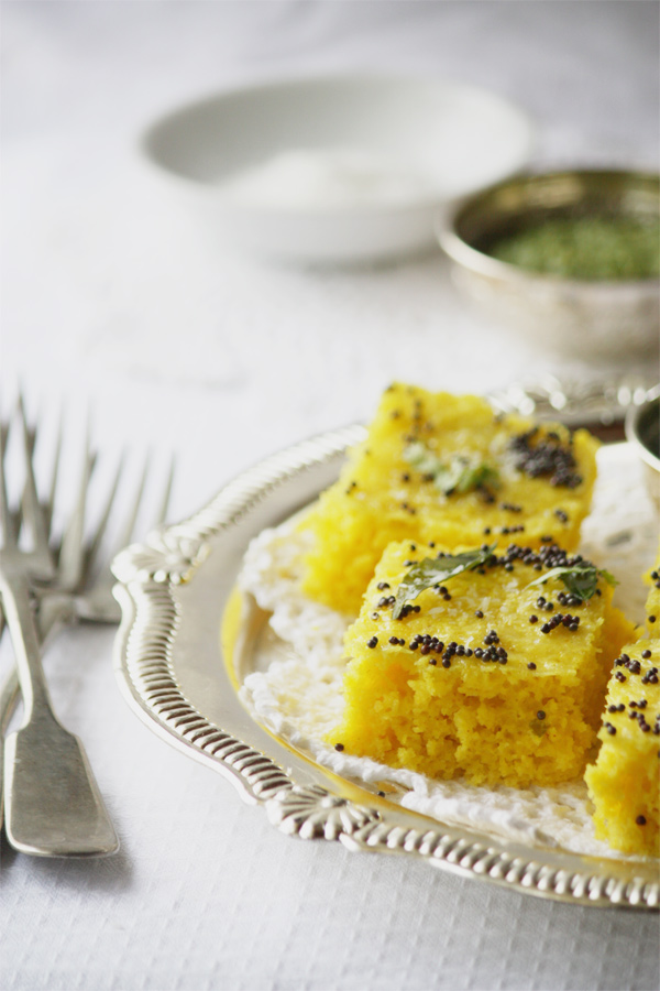 Traditional Gujarati Khaman Dhokla
