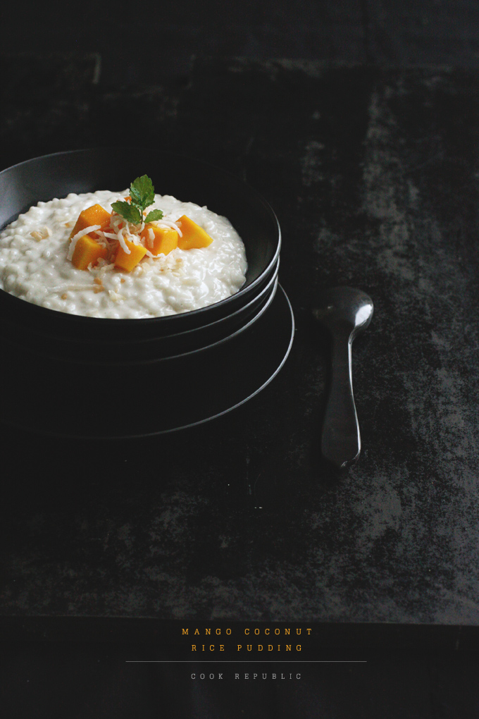 Mango Coconut Rice Pudding - Cook Republic
