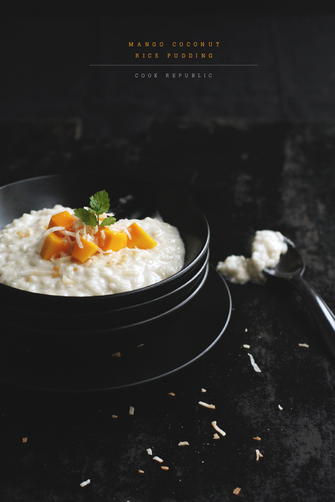 ... mango coconut rice pudding coconut rice pudding with coconut rice