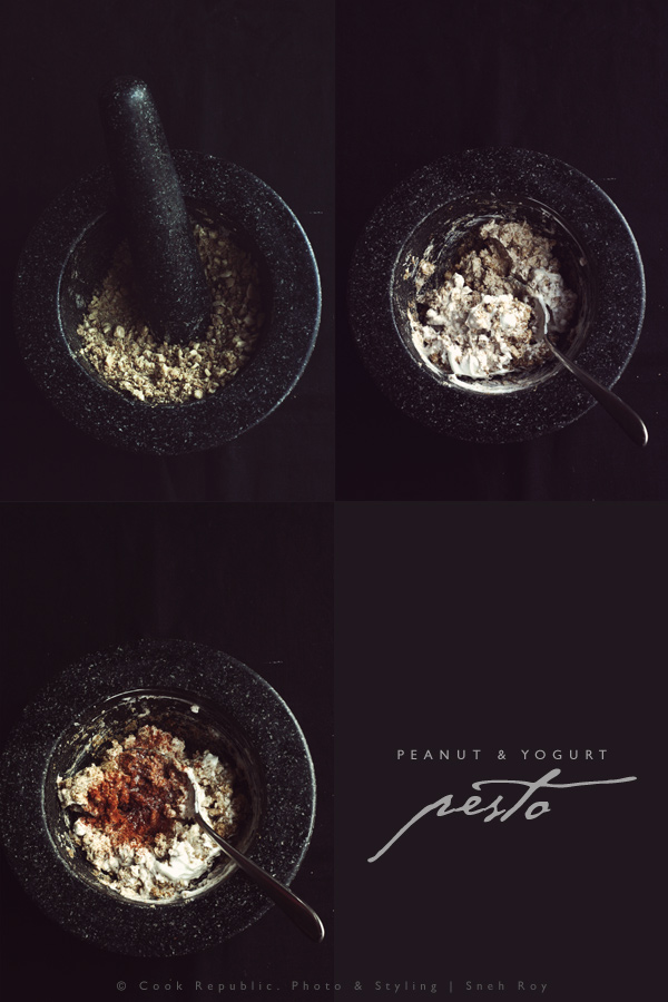 Peanut And Yogurt Pesto - Mortar & Pestle