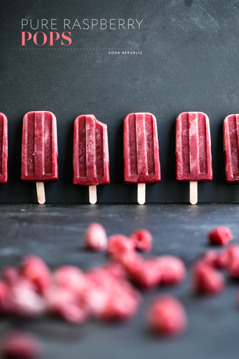Pure Raspberry Pops - Cook Republic