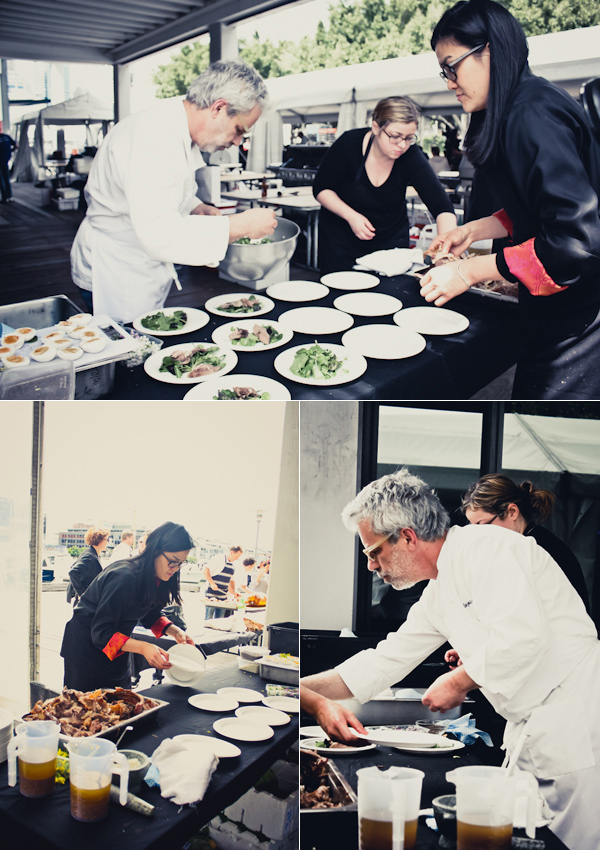 David Tanis & Kylie Kwong plating up.