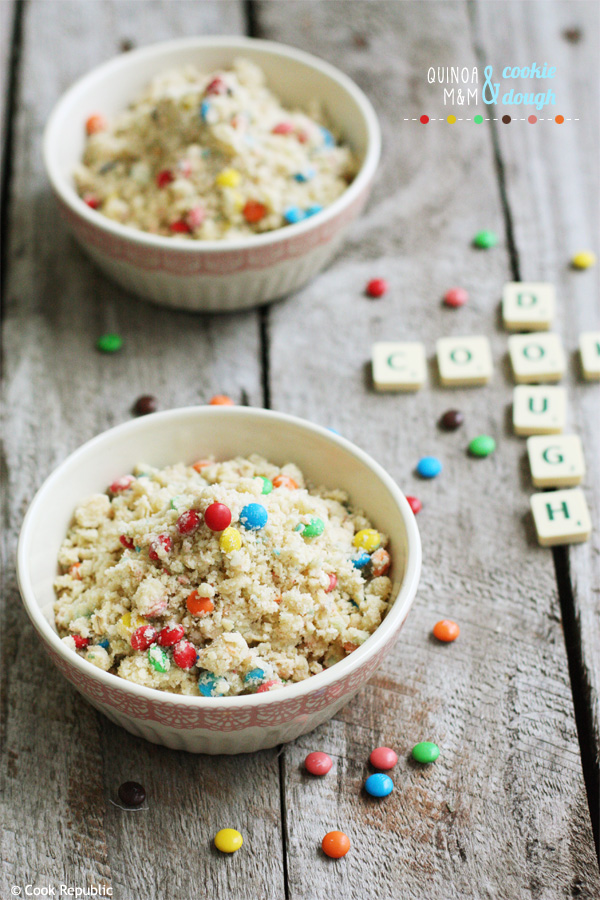 Quinoa And M&M Cookie Dough