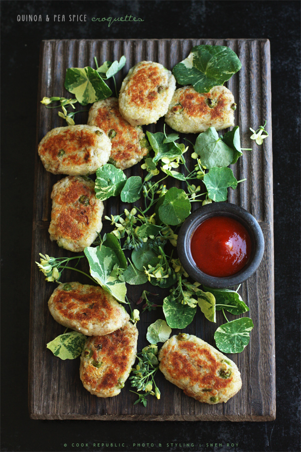 Quinoa And Pea Spice Croquettes | Cook Republic