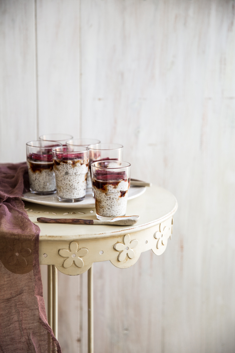 Roasted Rhubarb And Chia Parfait - Cook Republic