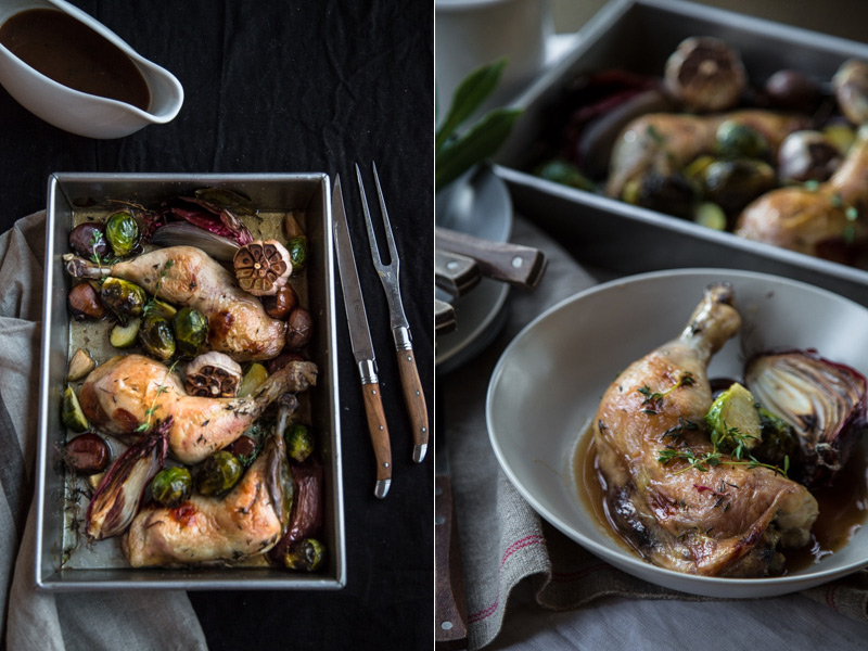 Roast Garlic Chicken With Sticky Marsala Sauce - Cook Republic