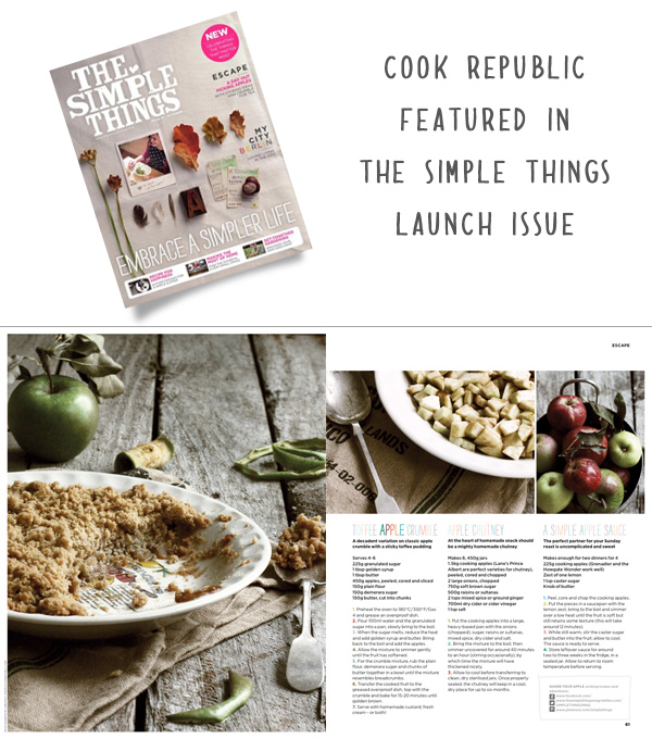 Cook Republic featured in The Simple Things Magazine