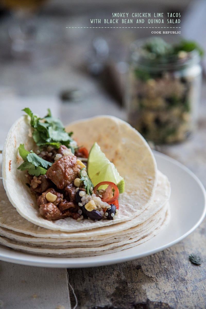 Smokey Chicken Lime Tacos - Sneh Roy, Photo