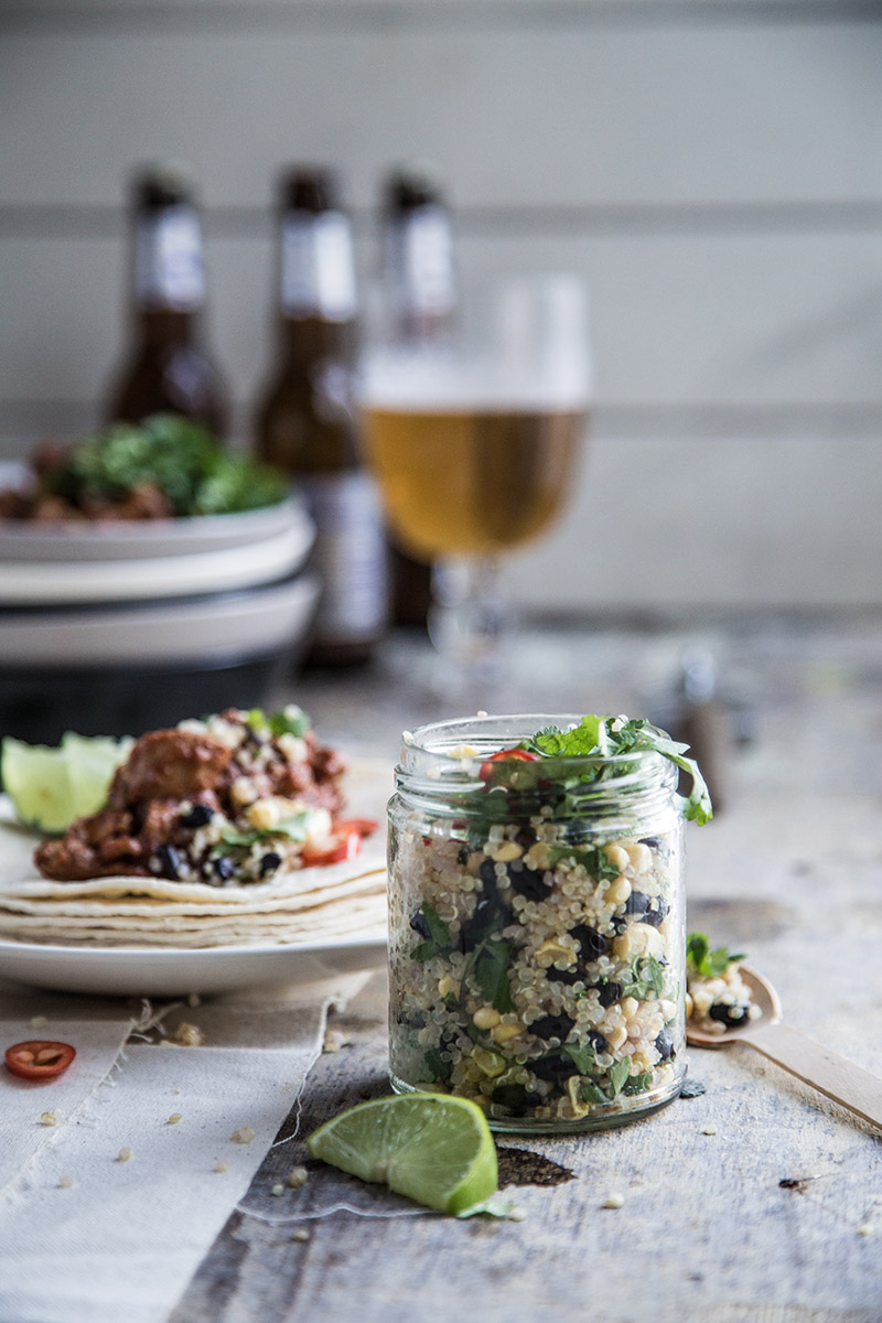 Quinoa & Black Bean Relish In Jar - Sneh Roy, Photo.