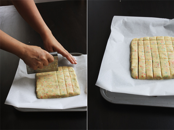 Cutting The Dough - Sprinkle Shortbread