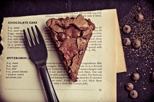 Slice Of Dark Sticky Chocolate Cake