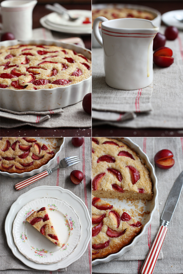 Buttermilk Cake With Plums And Custard