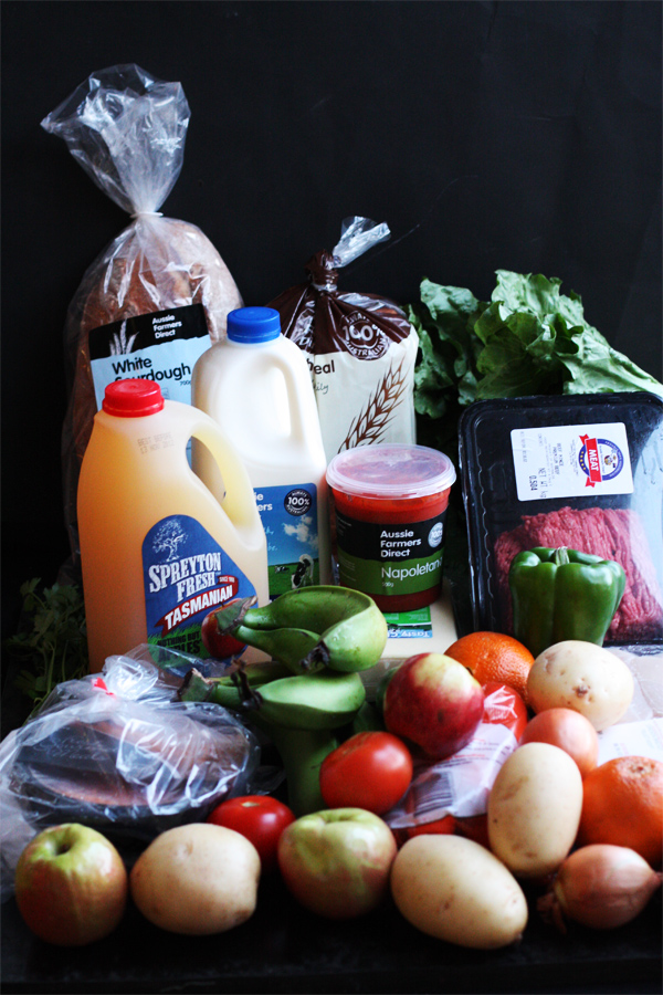 $66 worth of groceries from Amex Connect and Aussie Farmers Direct