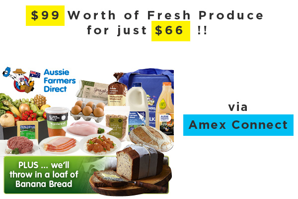 Fantastic offer from Amex Connect and Aussie Farmers Direct