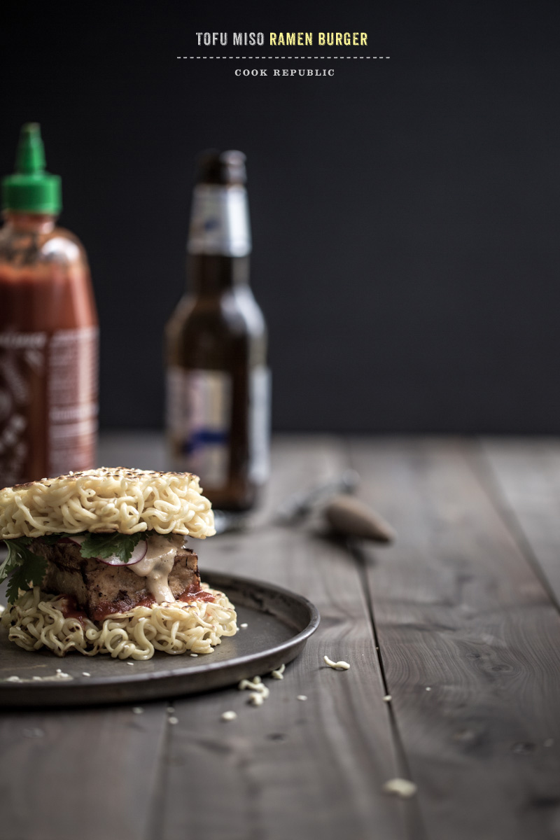Tofu Miso Ramen Burger - Cook Republic