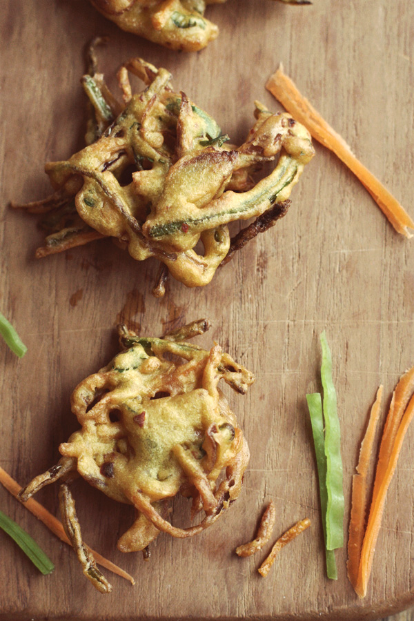 Vegetable Fritters - Crunchy & Spicy