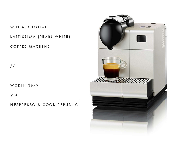 Win Nespresso's Delonghi Lattissima Coffee Machine In Pearl White Worth $579 - Cook Republic