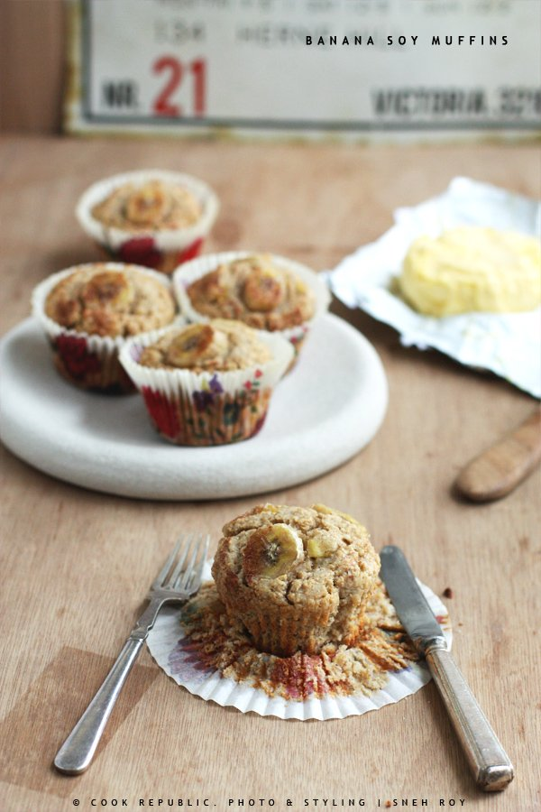 Banana Soy Muffins - Healthy Breakfast Bakes